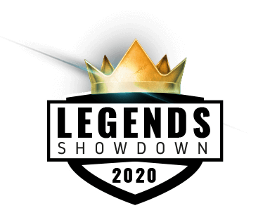 Legends showdown 2020 logo with a crown